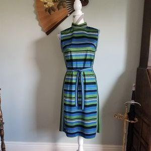 Vintage 70's Striped Mary Tyler Moore Dress!